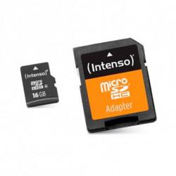 INTENSO Carte Mémoire Micro SD avec Adaptateur 3413470 16 GB Cours 10