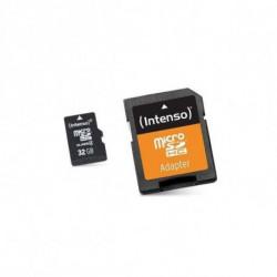 INTENSO Carte Mémoire Micro SD avec Adaptateur 3413480 32 GB Cours 10