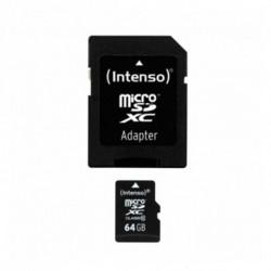 INTENSO Carte Mémoire Micro SD avec Adaptateur 3413490 64 GB Cours 10