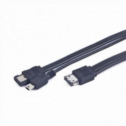 iggual IGG312568 cable de SATA 1 m eSATAp eSATA Negro