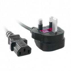 iggual IGG311141 cable de transmisión Negro 1,8 m BS 1363 C13 acoplador