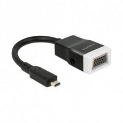 DELOCK Adaptateur HDMI Micro vers VGA avec Audio 65589 15 cm Blanc Noir