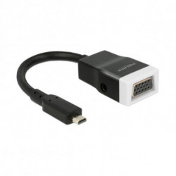 DELOCK Micro HDMI to VGA with Audio Adapter 65589 15 cm White Black