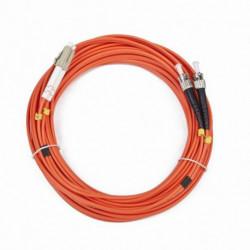 iggual IGG311561 cable de fibra optica 10 m OM2 LC ST Naranja