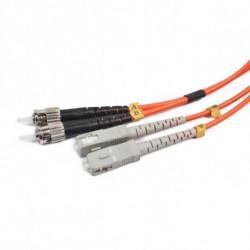 iggual IGG311486 cabo de fibra ótica 2 m OM2 2x ST 2x SC Laranja