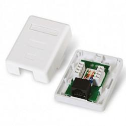 NANOCABLE Datendose mit Netz 10.21.1501 UTP RJ45 6 Weiß
