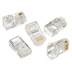 iggual IGG312148 connecteur de fils RJ45 Transparent