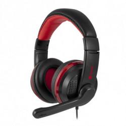 NGS VOX700 USB Stereofonico Padiglione auricolare Nero, Rosso