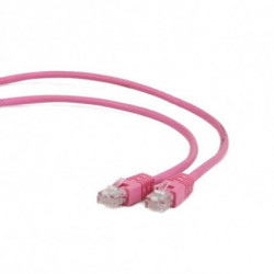 iggual IGG310571 cabo de rede 3 m Cat5e U/UTP (UTP) Rosa