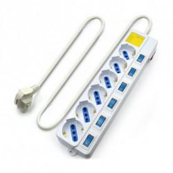 Ewent EW3932 Spannungsschutz 6 AC-Ausgänge 1,5 m Weiß