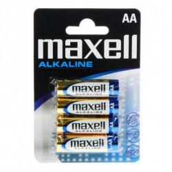 Maxell Piles Alcalines 1.5V AA PK4 AA 1,5 V