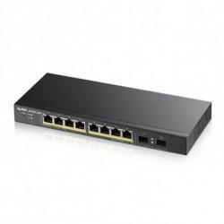 Zyxel GS1900-10HP Géré L2 Gigabit Ethernet (10/100/1000) Noir 1U Connexion Ethernet, supportant l'alimentation via ce port (...