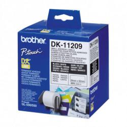 Brother DK-11209 etiquetadora Preto sobre branco