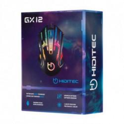 Hiditec GX12 mouse USB Ottico 2400 DPI Mano destra