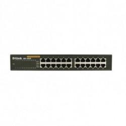 D-Link 24-port 10/100M NWay DesktopInternal PSU (incl. 19 rack mount kit) Non-géré