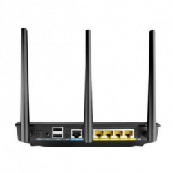 ASUS RT-AC66U router sem fios Dual-band (2,4 GHz / 5 GHz) Gigabit Ethernet Preto
