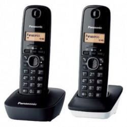 Panasonic Teléfono Inalámbrico KX-TG1612SP1 Negro Blanco (2 pcs)