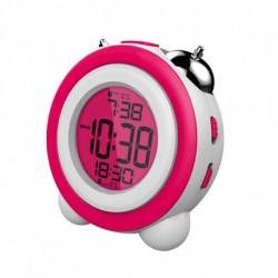 Daewoo Reloj-Despertador DCD-220PK Rosa