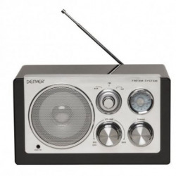Denver Electronics TR-61BLACKMK2 rádio Portátil Digital Preto