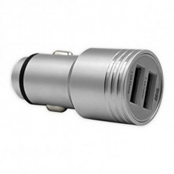 TenGO! Caricabatterie per Auto RT3115BT 2 USB Metallo