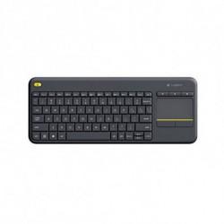 Logitech K400 Plus tastiera RF Wireless QWERTY Spagnolo Nero