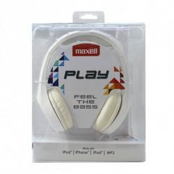 Maxell Casque Play MXH-HP500 Blanc Serre-tête
