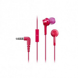Panasonic Casques avec Microphone RP-TCM105E in-ear Rose
