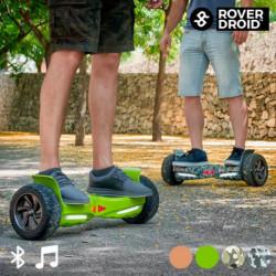 Patinete Eléctrico Hoverboard Bluetooth con Altavoz Rover Droid Stor 190 Verde Pistacho