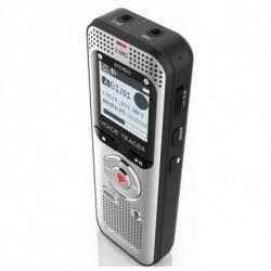 Philips Voice Tracer 2000 dittafono Memoria interna e scheda di memoria Nero, Argento