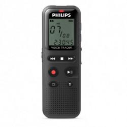 Philips DVT1150 dittafono Memoria interna Nero