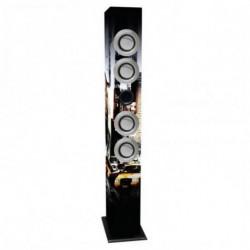 iWown Casse a Colonna con Microfono Karaoke 4 x 3W USB/SD/MMC