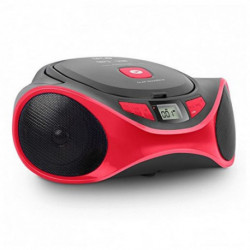 SPC Clap Boombox Leitor de CD portátil Preto, Vermelho