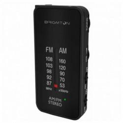 Brigmton BT-224 radio Portátil Analógica Negro BT-224-N