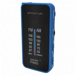 Brigmton BT-224 rádio Portátil Análogo Preto, Azul