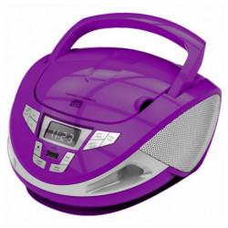 Brigmton W-440-M Tragbares Stereosystem Digital 4 W Violett, Silber