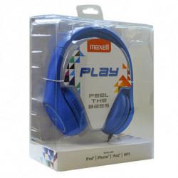 Maxell Headphones Play MXH-HP500 Blue Headband