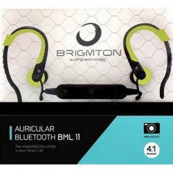 Brigmton BML 11 auriculares para móvil Monoaural Dentro de oído Negro, Verde