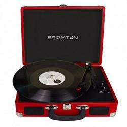 Brigmton BTC-404-R gira-discos Vermelho