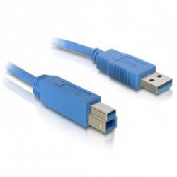 DELOCK USB A zu USB-B-Kabel 82582 5 m Stecker-Stecker-Adapter Blau