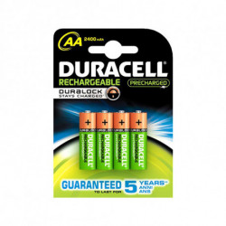 DURACELL Rechargeable Batteries AA NiMh 2400 mAh (4 pcs)