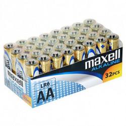Maxell Pilas Alcalinas MXBLR06P32 LR06 AA 1.5V (32 pcs)