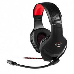 Mars Gaming MH2 conjunto de auscultadores e microfone Binaural Fita de cabeça Preto, Vermelho