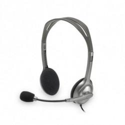 Logitech H110 auricular para telemóvel Binaural Preto, Prateado