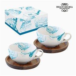 Set di 2 Tazze con Piatto Porțelan by Bravissima Kitchen