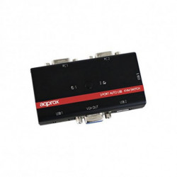 approx KVMUSB2PA2 KVM Switch KVM 2p USB+Audio C/In