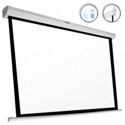 iggual Elektrische Panorama-Leinwand PSIPS243 110 (243 x 137 cm) Weiß