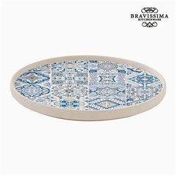 Assiette plate Porcelaine Bleu by Bravissima Kitchen