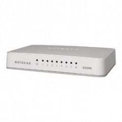 Netgear GS208 Gigabit Ethernet (10/100/1000) Blanco
