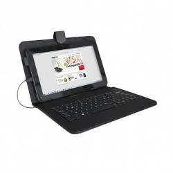 approx! Tablet and Keyboard Case APPIPCK05 10.1 Leather Black