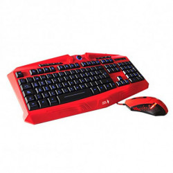 Mars Gaming MCPVU1 tastiera Nero, Rosso